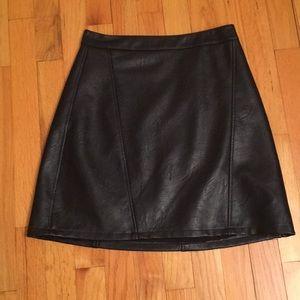 Zara faux leather miniskirt